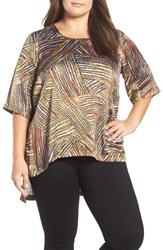 Melissa Mccarthy Seven7 Plus Size Women's Print One Pocket Tee