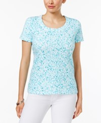 Charter Club Printed Cotton T Shirt Only At Macy's Clear Coast Combo