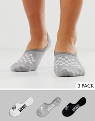 Vans Classic Assorted Canoodle Checker Socks 3 Pack Multi