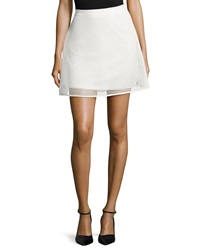 Romeo And Juliet Couture Mesh A Line Skirt Winter White