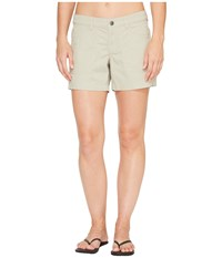 The North Face Boulder Stretch Shorts Granite Bluff Tan Women's Shorts White