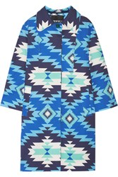 House Of Holland Sarah Printed Stretch Cotton Canvas Coat