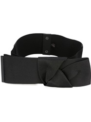 Erika Cavallini Semi Couture Knot Detail Belt Black