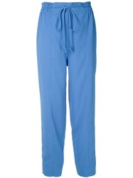 Martha Medeiros Tie Waist Tapered Trousers 60