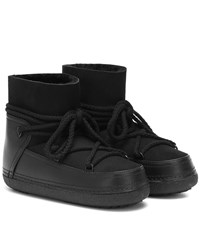 Inuikii Classic Suede And Leather Boots Black
