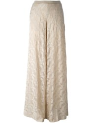 Missoni Knitted Palazzo Pants Nude And Neutrals