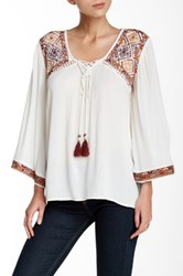 Angie Embroidered Blouse White