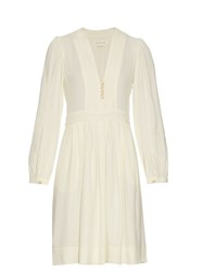 Etoile Isabel Marant Neil V Neck Crepe Dress Ivory