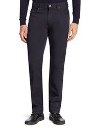 Armani Collezioni Regular Fit 5 Pocket Pants Navy