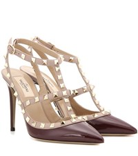 Valentino Rockstud Patent Leather Pumps Red