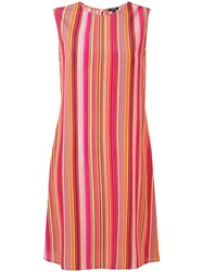 Aspesi Striped Shift Dress Multicolour