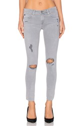 Ag Adriano Goldschmied Legging Ankle Sun Faded Distressed Dusty Blue