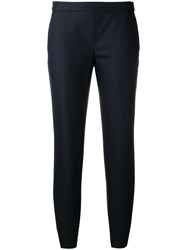 Theory Cropped Trousers Blue