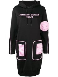 Jeremy Scott Pocket Patch Sweater Dress Black