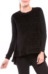 ff01e14b84087 Olian Women's Boucle Front High Low Maternity Top Black