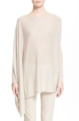 Women's Donna Karan Collection Featherweight Cashmere Poncho Top Natural