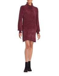 Free People Cowlneck Sweater Dress Red