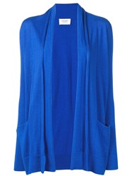Snobby Sheep Draped Open Front Cardigan Blue