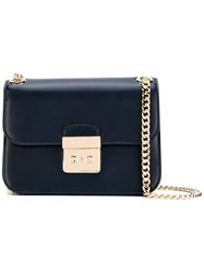 Michael Michael Kors Chain Strap Crossbody Bag Women Leather One Size Blue