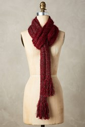 Anthropologie Tinselknit Scarf Wine