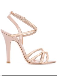 Red Valentino Glitter Sandals Nude Neutrals