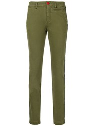 History Repeats Side Stripe Fitted Jeans Green