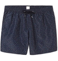 Paul Smith Slim Fit Mid Length Polka Dot Swim Shorts Navy