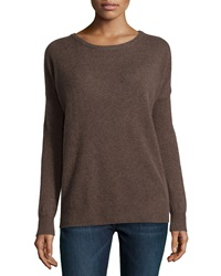 Minnie Rose Cashmere Relaxed Pullover Sweater Swiss Miss