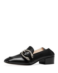 Gucci Dionysus Leather 35Mm Loafer Black