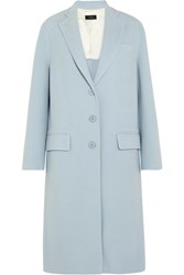Joseph Simo Wool And Cashmere Blend Coat Sky Blue