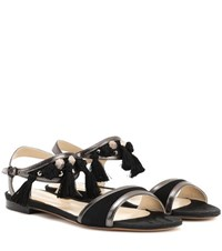 Etro Leather And Suede Sandals Black