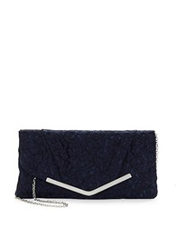 Jessica Mcclintock Lace Trimmed Clutch Navy Blue