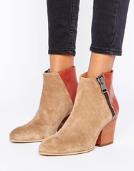 Selected Femme Amber Mix Boot Sand Beige