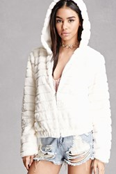 Forever 21 Hooded Faux Fur Jacket