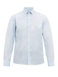 Burberry Slim Fit Cotton Poplin Shirt Light Blue