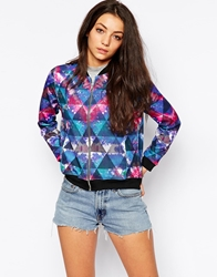 Jaded London Tie Dye Bomber Jacket Multi