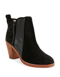 Matt Bernson Holt Suede And Leather Ankle Boots Black