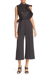 Self Portrait Women's Beaded Sequin Ruffle Jumpsuit