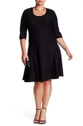 Nic Zoe Twirl Flare Dress Plus Size Black