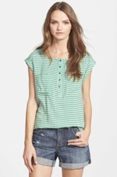 Ace Delivery Stripe Cap Sleeve Shell Green