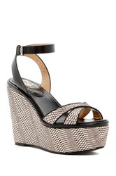 Vc Signature Danee Platform Wedge Sandal Gray