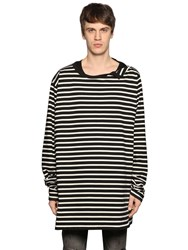 Faith Connexion Striped Cotton Jersey T Shirt