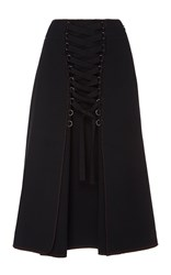 Proenza Schouler High Waist Lace Up Skirt Black