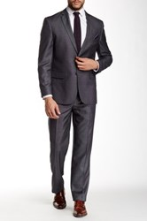 Nicole Miller Dark Gray Checkered Two Button Notch Lapel Suit