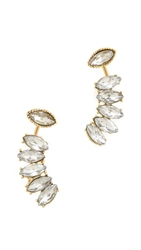 Adia Kibur Reversible Earrings Crystal