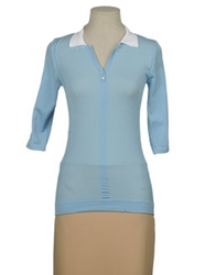Lorena Antoniazzi Short Sleeve Sweaters Sky Blue