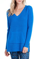 Lole Women's 'Jaden' Waffle Knit Sweater Electric Blue