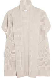 Eres Confidante Royal Waffle Knit Wool And Cashmere Blend Cardigan