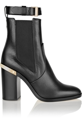 Reed Krakoff Gold Trimmed Leather Ankle Boots