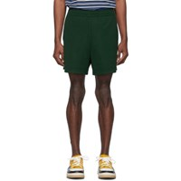 Acne Studios Green Emanuel Face Shorts